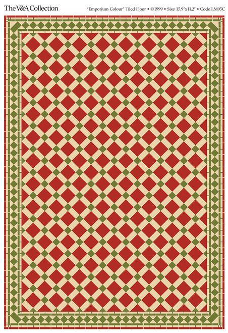 A3 Emporium Coloured Floor Tiles Gloss Card DIY088