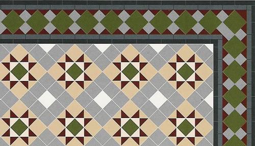 A3 Grosvenor Floor Tiles Gloss Card DIY217