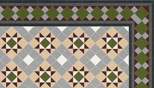 Grosvenor Hallway Floor Tiles Gloss Card DIY217A