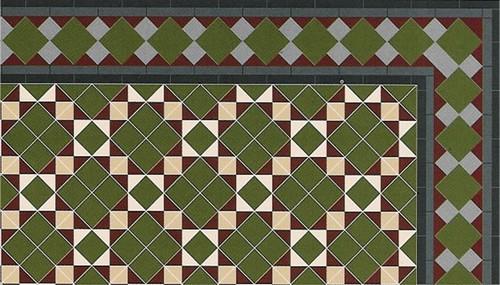 A3 Shaftesbury Floor Tiles Gloss Card DIY218