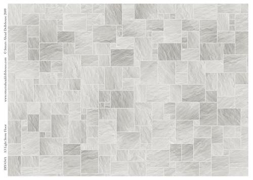 A3 Light Stone Floor Tiles Gloss Card DIY434A