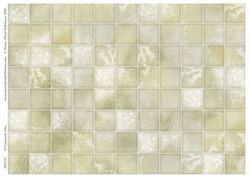 A3 Limestone Tiles Gloss Card DIY435