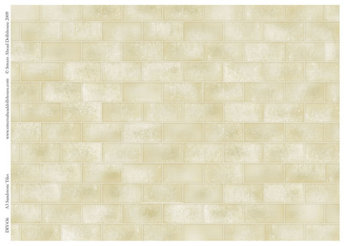 A3 Sandstone Tiles Gloss Card DIY436