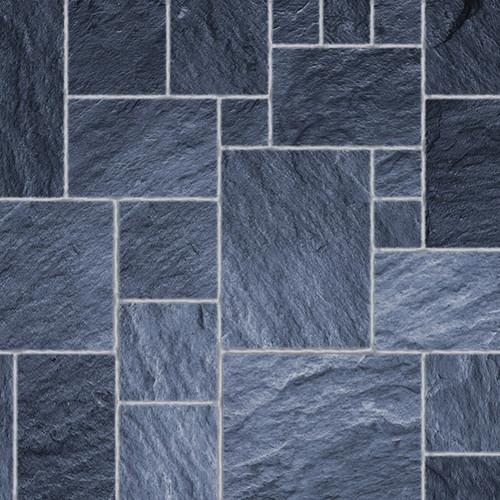 A3 Embossed Dark Slate Floor Tiles Gloss Card DIY774