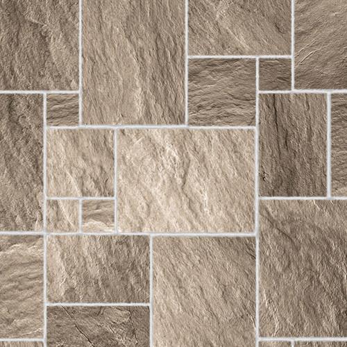 A3 Embossed Dark Stone Floor Tiles Gloss Card DIY775B