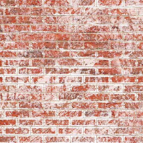 A3 Embossed Weathered White Brick Stretcher Bond DIY794B