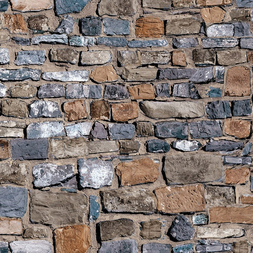 A3 Old Stone Brick Wall DIY797B