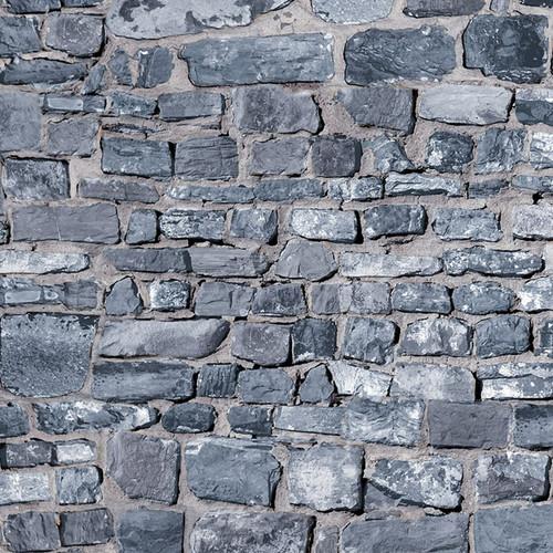 A3 Embossed Grey Stone Brick Wall DIY798A