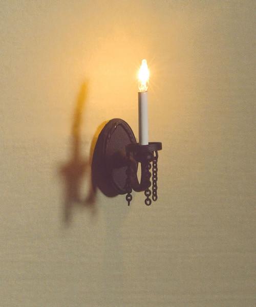 Single Black Wall Light 3445