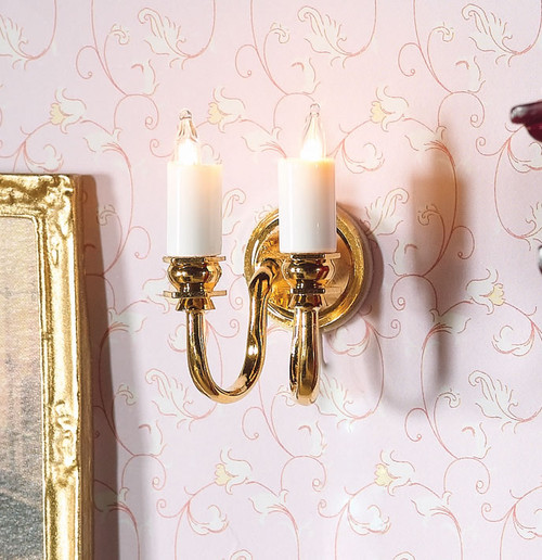 Twin Candle Wall Light 7248