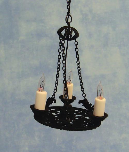 3 Arm Candle Tudor Chandelier DE147