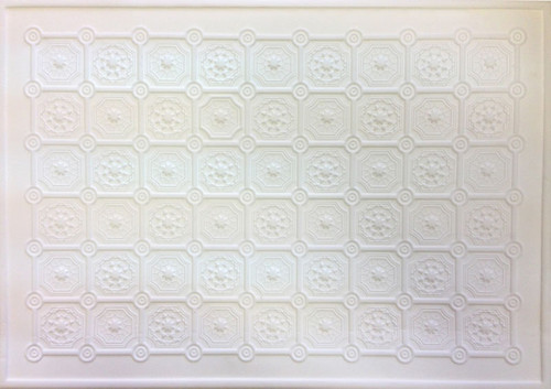 Luxury Embossed White Ceiling Paper 1562