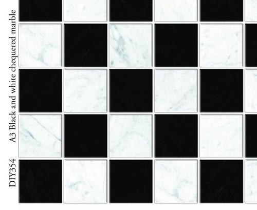 A3 Black & White Wall or Floor Tiles DIY354
