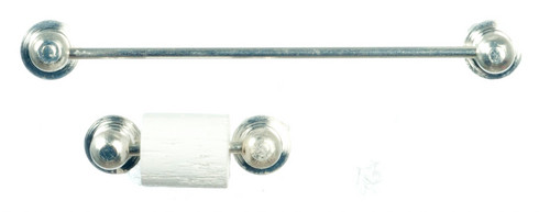 Chrome Towel Rail and Toilet Roll Holder IM65651