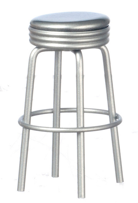 1950's Style Silver Bar Stool T5923