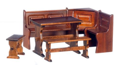 Corner Dining Room Table Set Walnut T6834
