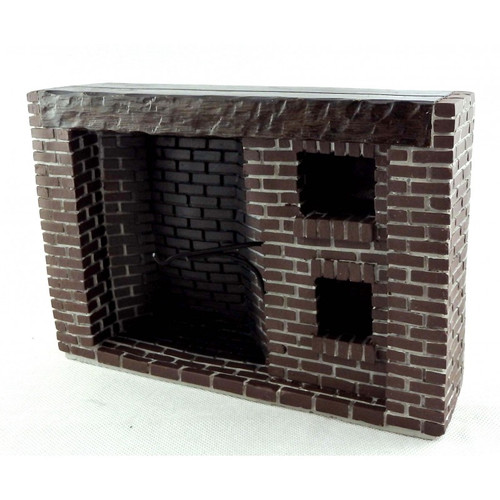 Red Brick Colonial Walk-in Fireplace YM0244