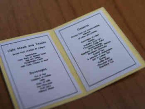 Café Table Menu S70