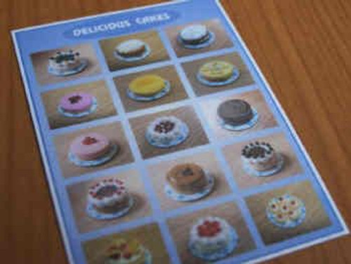 Cakes Display Poster S71