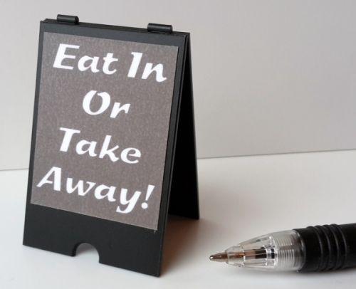 Eat In Or Takeaway Café 'A' Board S135