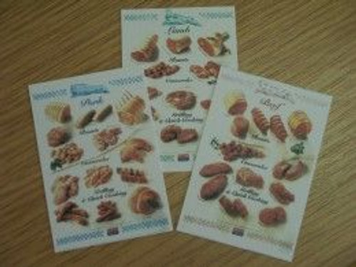 Set of 3 Meat Posters S461