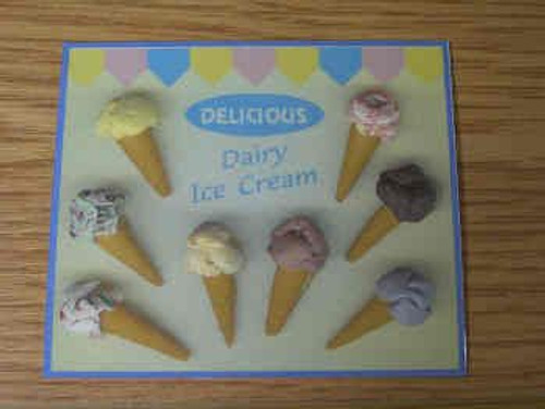 Laminated Ice Cream Poster S469