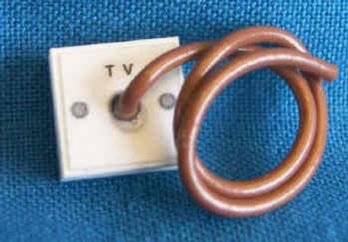 TV Aerial Socket & Lead M115