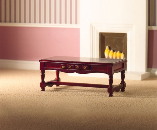 Coffee Table with Drawer in Mahogany 2399