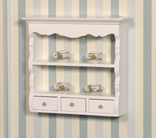 White Wall Shelf Unit 2599