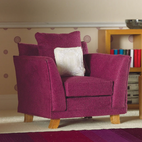 Soft Plum Armchair 3621