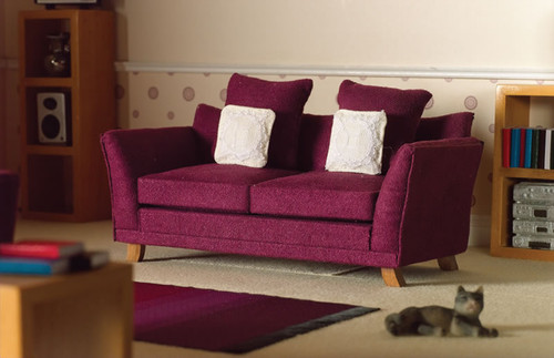 Soft Plum Sofa / Settee 3633
