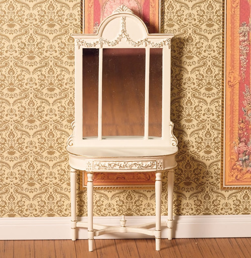 Hand Painted Table with Mirror 4263