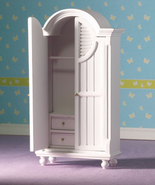 White Wardrobe with Internal Drawers 5103