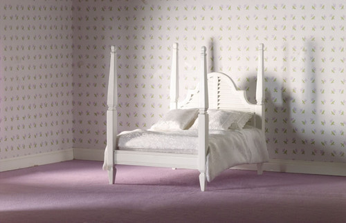 White Four Poster Double Bed 5104