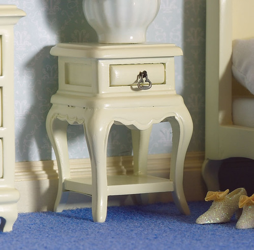 French Style Cream Bedside Table 5634