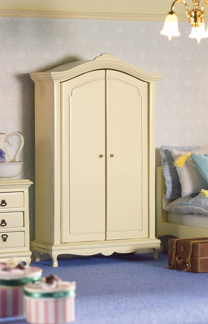 French Style Cream Double Wardrobe 5672