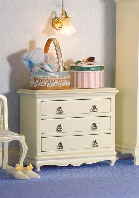 French Style White Chest of Drawers 5693
