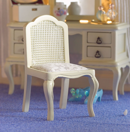 French Style Cream Dressing Table Chair 5691