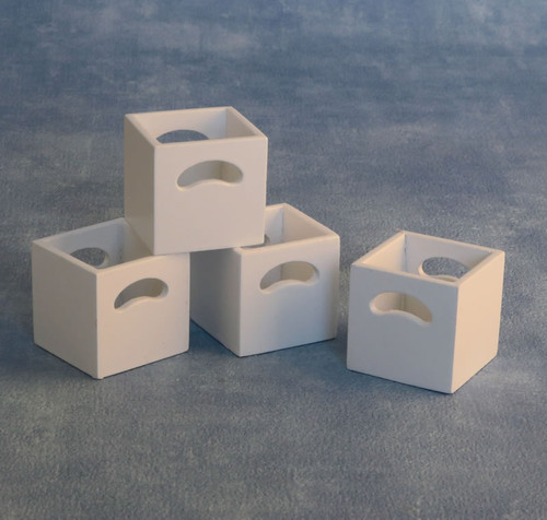 Set of 4 White Storage Boxes 9311