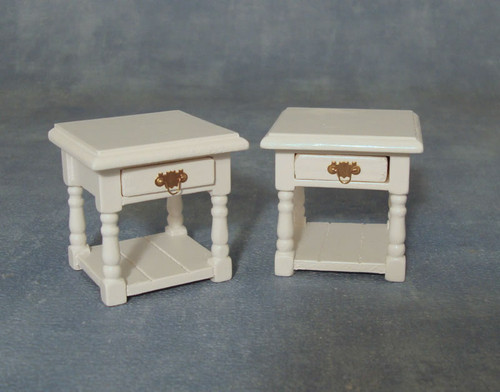 White Bedside Table Pack of 2 DF1451