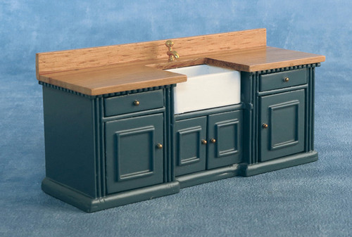 'Smallbone' Sink Unit Blue/Pine 9334