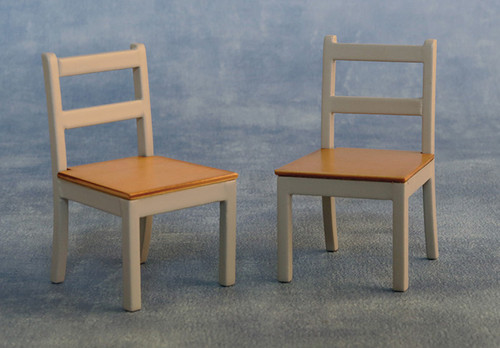 Modern Chairs Pack of 2 Grey/Pine 9337