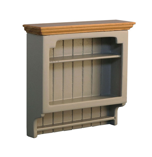 Shaker-Style Wall Shelves Grey/Pine 9340