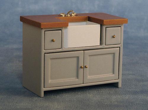 Shaker-Style Sink Unit Grey/Pine 9344
