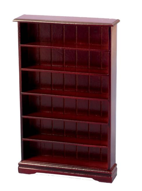 6 Shelf Bookcase Mahogany DF1554