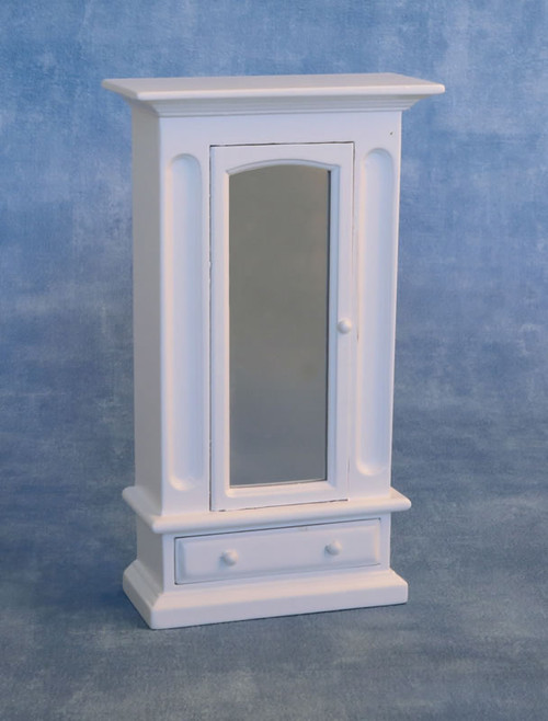 White Mirrored Wardrobe DF1576