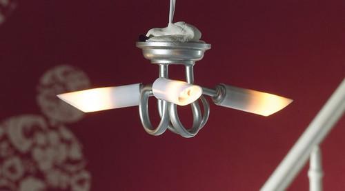 Modern 'Silver' Triple Ceiling Light 5359