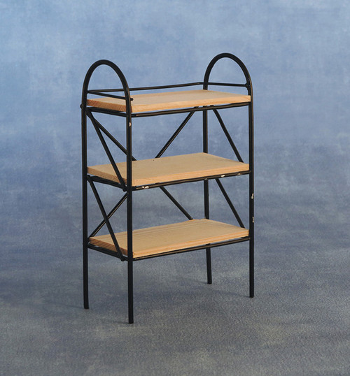 Black Metal Shelving Unit DF506