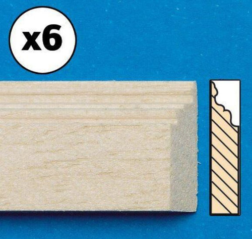 Unvarnished Lightwood Skirting Board, 6 Pieces 7018