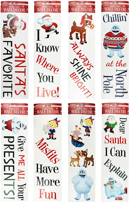 Set of Assorted Rudolf the Red Nose Reindeer Wall Decals